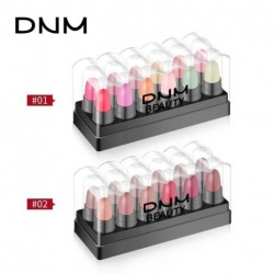 DNM mini Waterproof Natural Eye Shadow Pen Set Lipstick makeup Tools Long Lasting Velvet Matte Lip Gloss gold jelly Lip Gloss