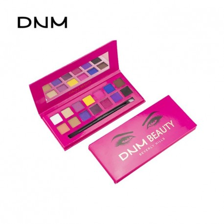 DNM pearl light matte 15 color eye shadow disc high gloss waterproof natural easy to color beginners makeup plate